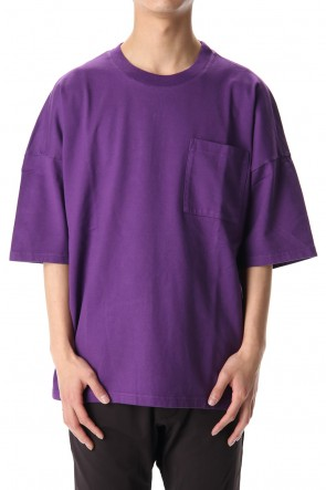 KAZUYUKI KUMAGAI 20SS 50//2 Royal organic compact plain stitches crew neck Dolman S/S Purple