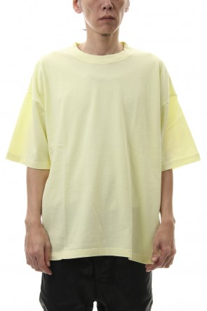 KAZUYUKI KUMAGAI 20SS 28/-super long cotton plain stitches crew neck S/S L.Yellow