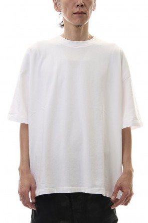 KAZUYUKI KUMAGAI 20SS 28/-super long cotton plain stitches crew neck S/S White