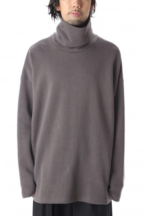 KAZUYUKI KUMAGAI 20-21AW Double face knit turtleneck L/S Gray