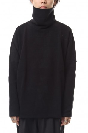 KAZUYUKI KUMAGAI 19-20AW Double face knit turtleneckc neck dolman L/S cut&sewn Black