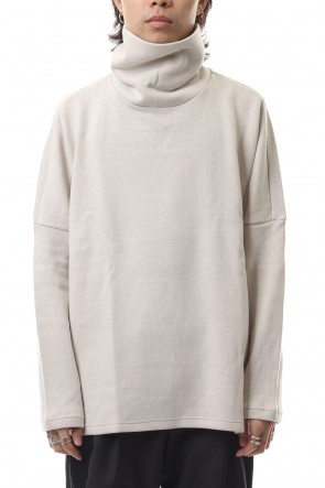 KAZUYUKI KUMAGAI 19-20AW Double face knit turtleneckc neck dolman L/S cut&sewn L-Beige