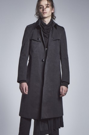 kiryuyrik 20-21AW Single Trench Coat Black