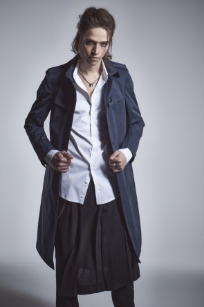 kiryuyrik 20-21AW Single Trench Coat Navy