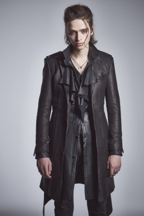 kiryuyrik 20-21AW Leather Epaulet Long Jacket