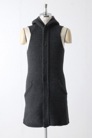 Knit Vest Wool Cotton