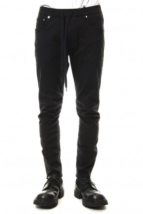 ATTACHMENT 19SS 10/1 × 20/1 High Power Stretch Twill Easy Biker Pants Black