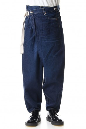 KAZUYUKI KUMAGAI 19-20AW 11oz Old straight model oversized wrap pants D-Navy
