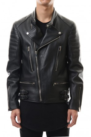 LITHIUM HOMME 19-20AW LAMB LEATHER BIKER JACKET