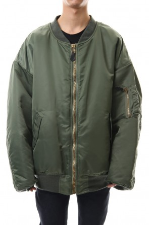 LITHIUM HOMME 19-20AW OVERSIZED MA-1 Sage Green