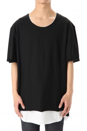 ASKyy 20SS Oversized Layered Cutsew -  Black / White
