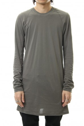 11 BY BORIS BIDJAN SABERI 19-20AW Raglan Long Sleeve T-Shirts Dark Gray Dye