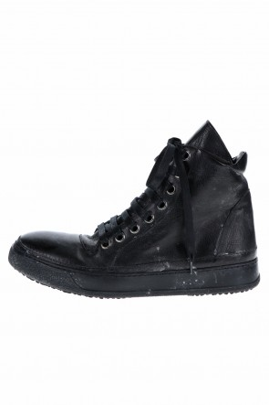 masnada 20-21AW LEATHER SNEAKERS MOLDY BLACK