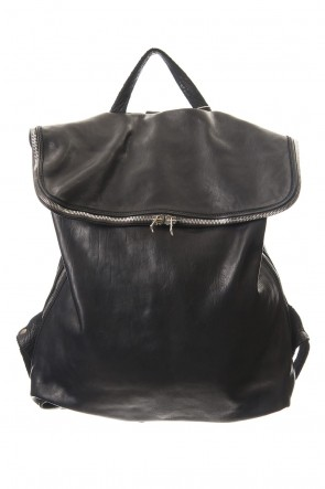 Guidi19-20AWLarge Belted Backpack Soft Horse Full Grain Leather BLK/T