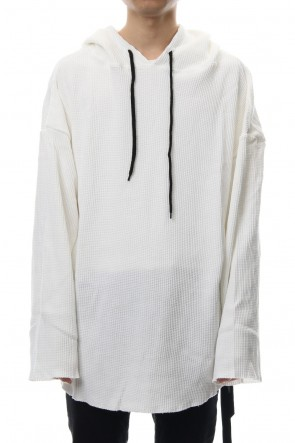 NIL DUE / NIL UN TOKYO 18SS PULLOVER WAFFLE HOODIE (WHITE)