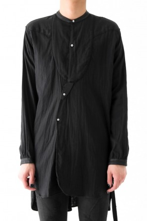 17SS NO COLLAR LONG SHIRT