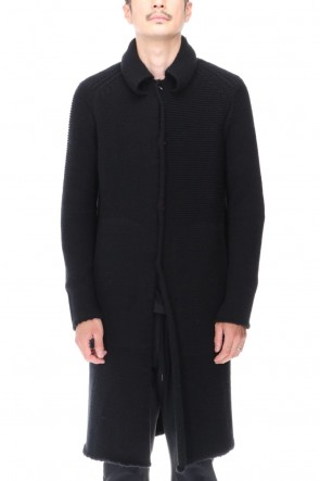 DEVOA 20-21AW Knit coat wool / cashmere Black