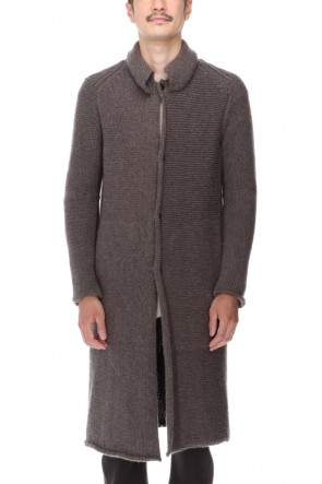 DEVOA 20-21AW Knit coat wool / cashmere Otter Gray