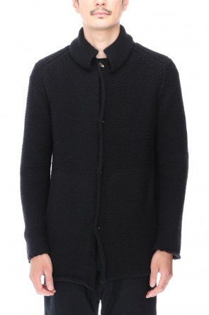 DEVOA 20-21AW Knit jacket wool/cashmere Black