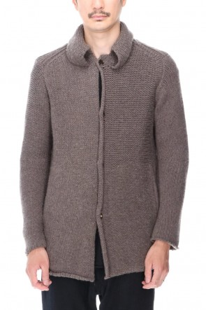 DEVOA 20-21AW Knit jacket wool/cashmere Otter Gray