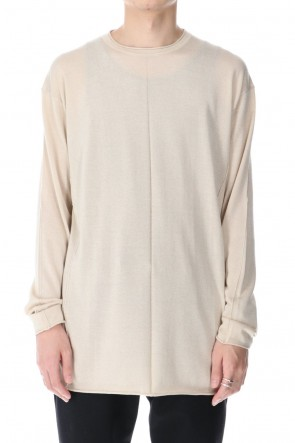 DEVOA 21SS Knit long sleeve silk / cashmere Sand Beige