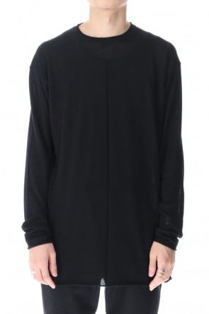 DEVOA 21SS Knit long sleeve silk / cashmere Black