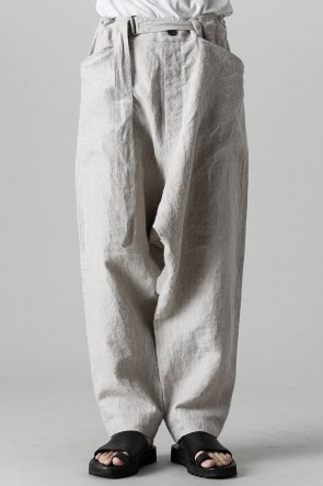 O PROJECT22SSCHINO TROUSERS Hemp Mele Cloth NATURAL