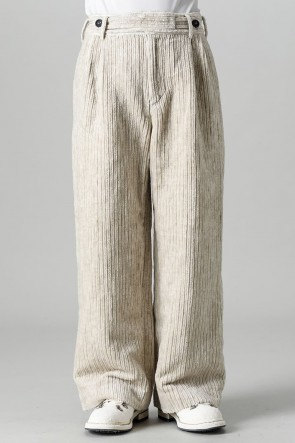 ZIGGY CHEN21-22AWFront Pleated Corduroy Long Trousers