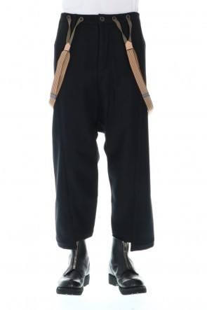 individual sentiments 20-21AW Wool Nylon Melton Pants