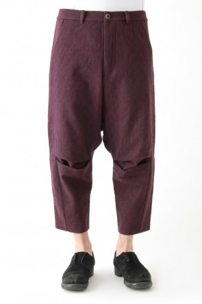 individual sentiments 17-18AW Pants PA71 Antique Check Compression Washer