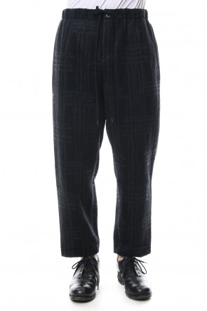 individual sentiments 18-19AW Pants PA89 Grid Pattern Jaquard Wool Beaver Finished