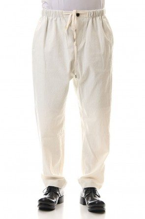 individual sentiments 20SS Cotton Linen Stretch Drawstring Pants  - PA89L-CLI26