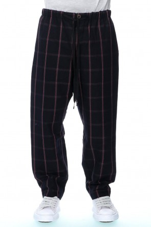 individual sentiments 20-21AW Drawstring Check Wide pants