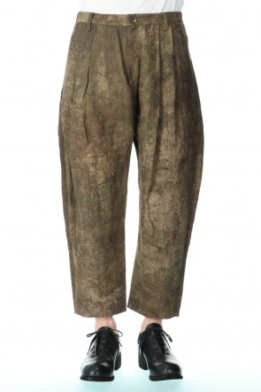 ZIGGY CHEN 20-21AW Uneven Dyed Cropped Pants