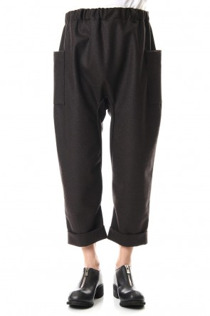 WARE 19-20AW Melton Cropped Pants