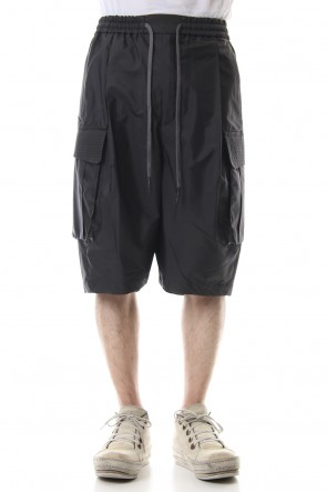 DEVOA 19SS Cargo short pants High density silk - Charcoal