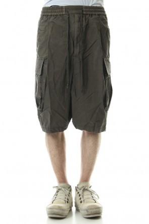 DEVOA 19SS Cargo short pants High density silk - Dirty Beige