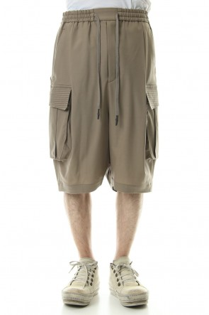 DEVOA 19SS Cargo short pants wool stretch