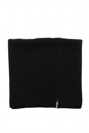 RIPVANWINKLE 18-19AW 3GG Wool Cotton W Snood RB-056 Black