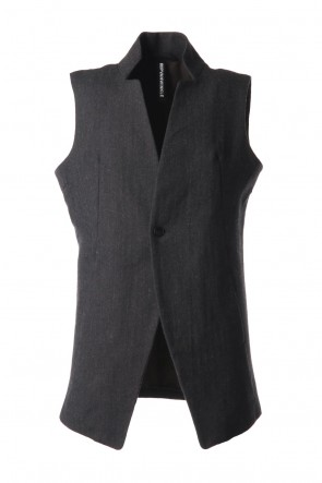 RIPVANWINKLE 20-21AW NOTCHEDLESS VEST