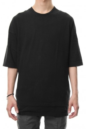 RIPVANWINKLE 18-19AW 20/1 Used Slab Jersey Layered T Black R+026