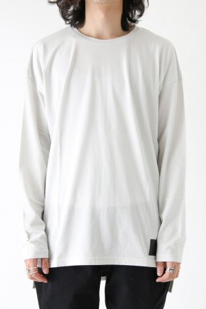 Leather Patch Long Sleeve Loose T-Shirt