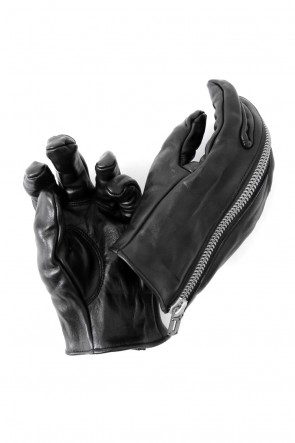 SADDAM TEISSY 17-18AW Horse Leather Zip Gloves