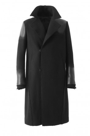 SADDAM TEISSY 17-18AW Leather Needle punch Double-breasted Coat