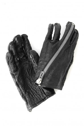 SADDAM TEISSY 17-18AW FASCINATE LIMITED Orstrich Zip Gloves