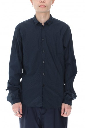Bergfabel 21SS Tyrol Shirt Navy Pin Dot