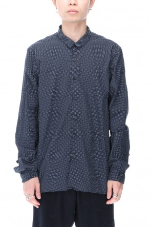 Bergfabel 20-21AW Large Short Tyrol Shirt Dot Navy