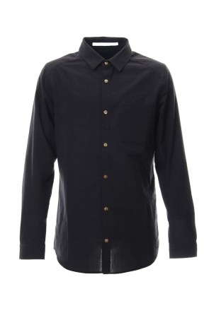 individual sentiments 18-19AW Shirt SH47 Cotton Boil Black