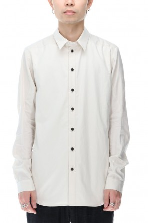 DEVOA 20-21AW Shirt 120/2 egyptian cotton ( FINX ) White Gray