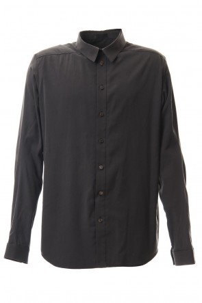 DEVOA 20SS Shirt Silk cotton sandblast Charcoal